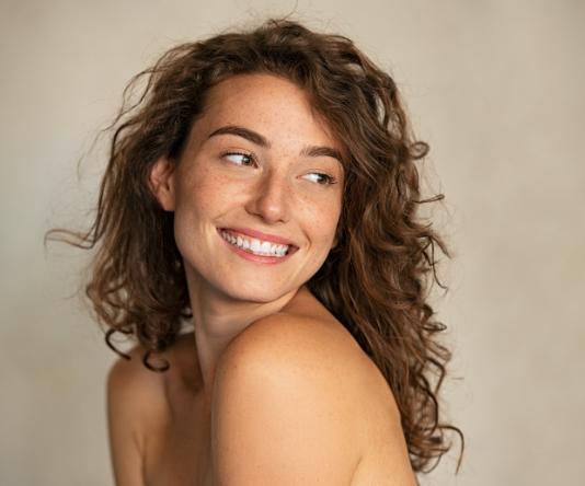 HydraFacial page model with freckles 02, Inigo Cosmetic Clinic Brisbane